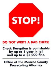 Stop Bad Checks! - Monroe County Check Deception Program